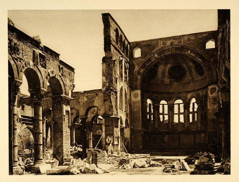 St.Dimitrius ruins 1928